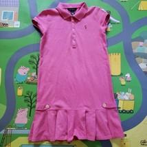 Ralph Lauren Polo Dress Size Large (12/14) Pink Short Sleeve Summer Ruff... - $12.86