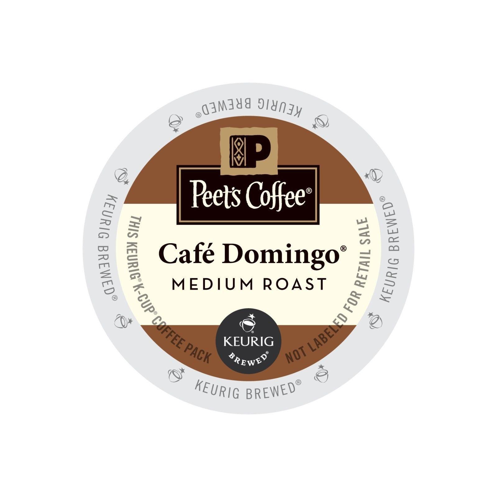 Peet's Coffee Cafe Domingo Coffee, 88 Kcups, FREE SHIPPING