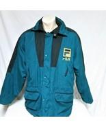 VTG Fila Winter Coat Ski Jacket 90s Spell Out Colorblock Parka Bjorn Bor... - $65.99