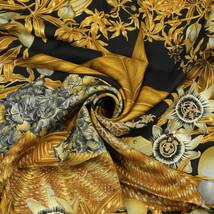 Auth Hermes Scarf PASSIFLORES 90cm Silk Foulard VALERIE DUMOULIN - $325.00