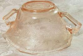 Old Vintage 30s Florentine #1 Pink Depression by Hazel Atlas Cream Soup Nut Bowl image 9