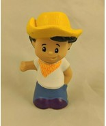 Fisher Price Little People Farmer Boy Straw Hat 2012 BBF07 - $4.95