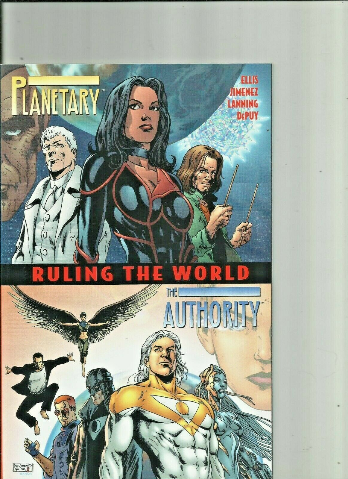 Planetary Ruling the world one shot(oversized) plus 8-9-10  Wildstorm Comics
