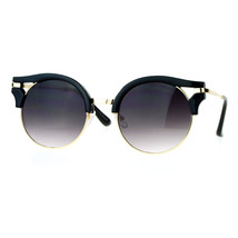 Womens Fashion Sunglasses Wing Topped Round Circle Designer Frame - $9.85+