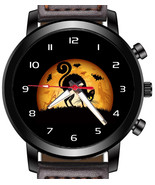 Black Cat Halloween Unique Unisex Beautiful Wrist Watch UK FAST - $45.00