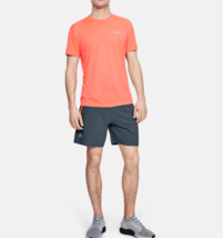 Under Armour Men UA Launch SW 7'' Shorts 1326572 Dark Gray/Orange Multi ... - $23.84
