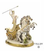 Villari Porcelain Figurine CAPODIMONTE THE CHARIOT MYTHOS NEW - $3,316.50
