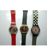 SWATCH VINTAGE LOT OF 3 SWISS WATCHES FOR RESTORATION OR MOVEMENT PARTS ... - $130.62