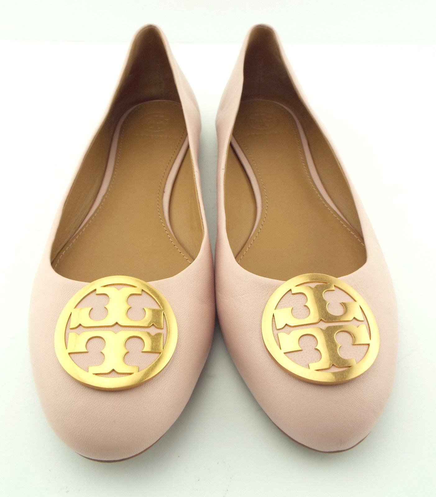 TORY BURCH Size 10 BENTON Pink Leather Ballet Flats Shoes