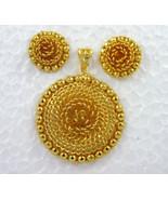 Indian Bollywood Gold Plated Ethnic Wedding Bridal Fashion Pendant Earri... - $12.06