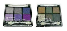 BH Cosmetics Foil Eyes To Go Eyeshadow Palettes 12 Colors Shimmer Purple... - $10.69