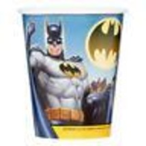 Batman Paper Cups 9 oz 8 Per Package Birthday Party Supplies by Unique New - $3.85