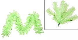 "Vickerman 9' x 12"" Sparkling Chartreuse Green Christmas Garland Green Li... - $48.25"