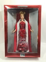 Barbie 2000 Doll in Red & Silver New Years Fashion Gown Mattel Collector... - $44.55