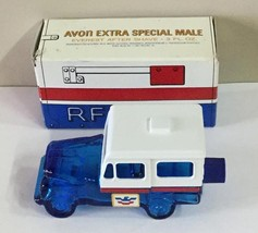Avon Extra Special Male Postal Jeep Empty 3 oz Aftershave Decanter With Box - $19.99