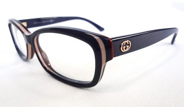 GUCCI Frame Glasses GG3607 9FY BlueKhakiRed 140 MADE IN ITALY - New! - $195.00