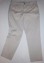"Gap NWT Women Khaki Tan Chino Slim City Khaki Cropped Pants 26"" Ins - $41.03"