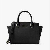 """Michael Kors""  Selma ~ Black ~ Satchel/Handbag ~ 1005576 ~ NWT - $187.50"