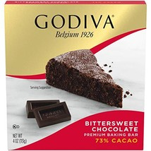 GODIVA Bittersweet Chocolate Premium Baking Bar 4 oz Box, Pack of 12 - $61.56