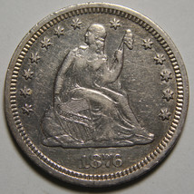 1876CC Seated Liberty Quarter 25¢ Coin Lot# MZ 3549