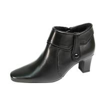 PEERAGE Blair Women Wide Width Side Zipper Fleece Lined Leather Ankle Boots - $80.95