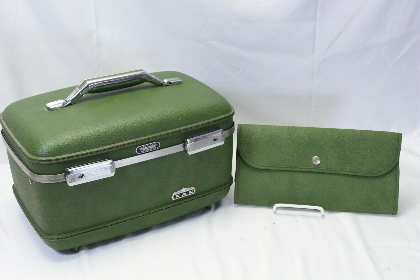 Primary image for 1960's American Tourister  Avacado Green Suitcase Luggage Case