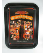Coca-Cola Tin Tray Celebration of the Century Issued 1986 Black Excellent - $14.85