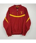 Nike USC Trojans Mens 1/4 Zip Pullover Windbreaker Jacket Small S Red Ye... - $32.68