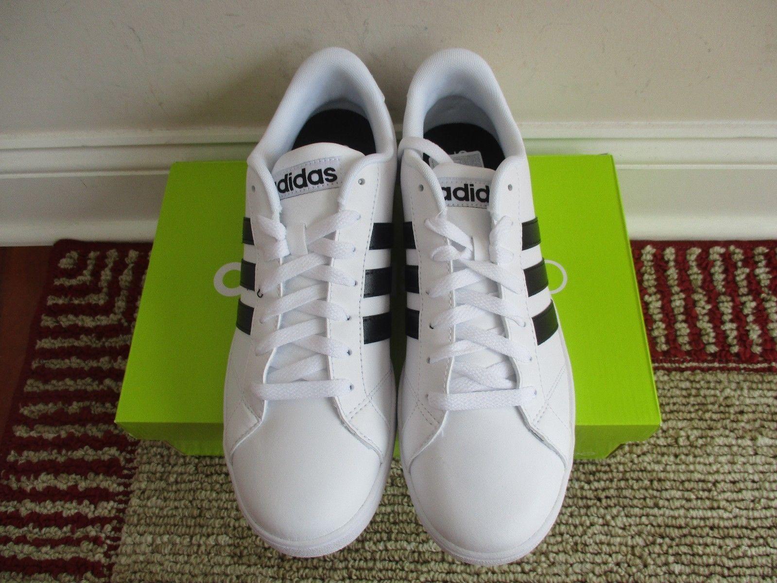 online store 50030 8093d BNIB Adidas NEO Baseline Men s Shoes, AW5410, White w  black stripe, size