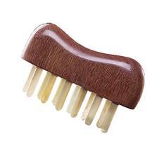Multifunction Horn Comb Neck Head Meridian Massage Comb Wide Tooth Healt... - $38.14