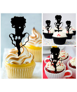 Ca478 Decorations cupcake toppers betty boop silhouette Package : 10 pcs - $10.00