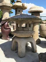 Antique Edo-Meiji Period Japanese Stone Lantern Rokkaku Yukimi Gata - 01... - $3,650.00