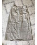 Casual Corner Stone Flat front A-line Skirt Size 8  Back Slit - Modest! - $24.02