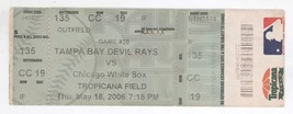 Chicago White Sox @ Tampa Bay 6/18/06 Box Office Ticket! Rays W 5-4 - $4.20
