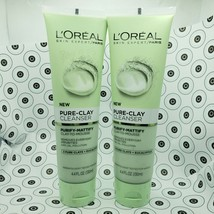 2 L'OREAL Paris Skincare Pure Clay Cleanser Purify & Mattify 4.4 oz  - $21.73
