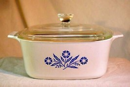 Corning Ware Cornflower Blue 1 1/2 Qt Glass Covered Baking Dish P-1 1/2-B - $12.47