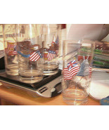 American Bicentennial Lot of Four Hand Painted Drinking Glasses Vintage ... - $21.00