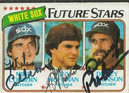 Mike Colbern Guy Hoffman & Dewey Robinson 1980 Topps Autograph RC #664 - $74.68