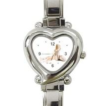 Ladies Heart Italian Charm Bracelet Watch Ballet Shoes Gift model 27034581 - $11.99