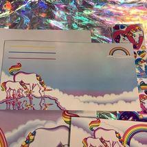 ⚡️SALE  Markie The Unicorn Lisa Frank Stationery Lot  Postalettes Stickers image 6
