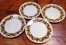 "Set 4 Mikasa Vtg 70s Epiqure One Parade Dessert Salad Plates Saucers Japan 7.75"" - $29.59"