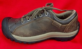 KEEN Briggs Shoes Oxfords Leather Hiking Walking Brown Lace-Up Women's size 7.5 - $38.76