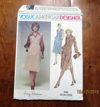 Vogue Jerry Silverman Sewing Pattern Misses Size 14 Dress Jumper Uncut FF  - $19.99