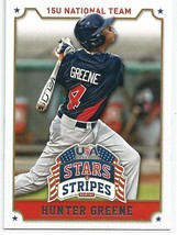 HUNTER GREENE 2015 PANINI TEAM U.S.A. BASEBALL ROOKIE CARD #43! CINCINAT... - $5.86