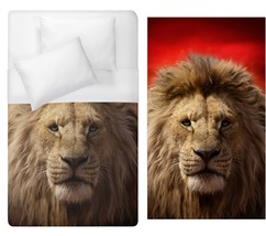 Mufasa lion king Duvet Cover Single Bed Size  - $70.00
