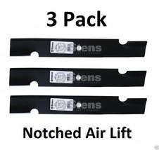 340-158 Stens (3 Pack) Notched Air-Lift Blade Ariens 00273100 Bobcat 112111-02 - $39.49