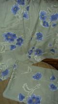 Pottery Barn Purple Poppies on Green Ground 2 Standard Pillow Shams Pair - $29.67