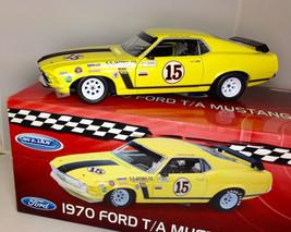 WELLY 1:18 1970 FORD T/A MUSTANG BOSS RACE CAR Ltd Ed. Follmer  - $89.99