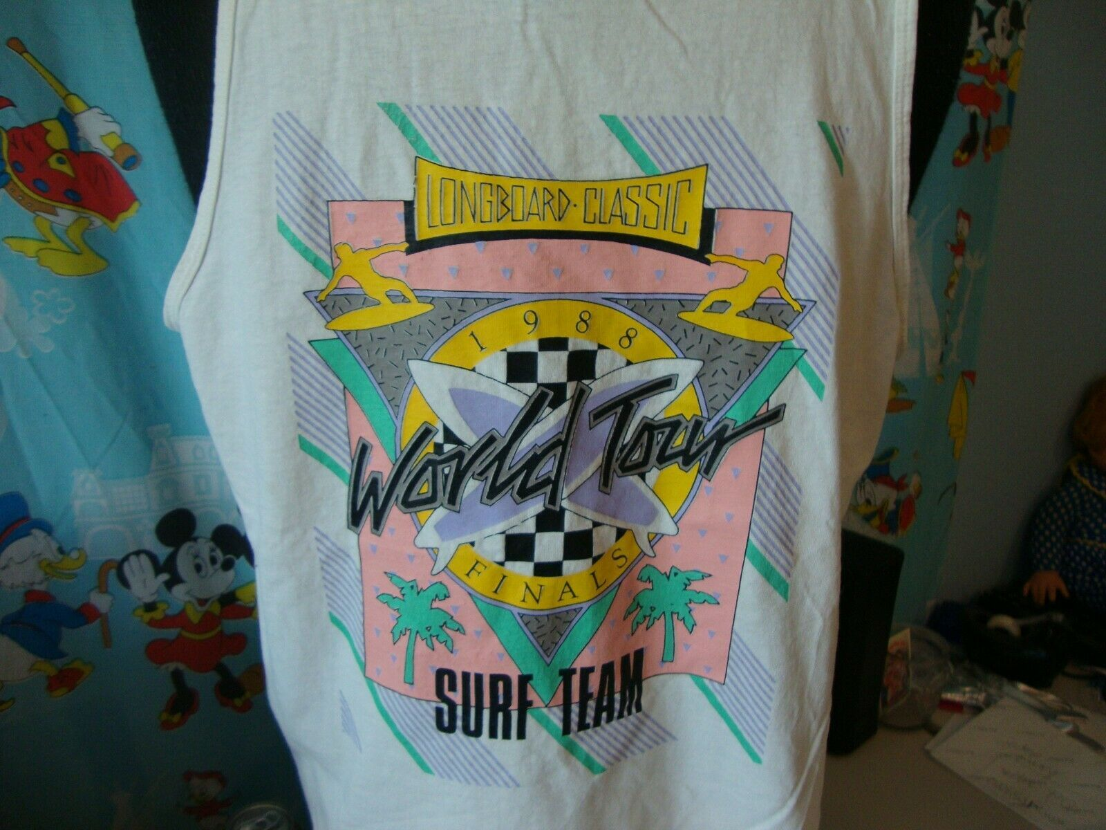 Primary image for Vintage 80's Longboard Classic 1988 Surf Team World Tour t shirt Tank Top XL