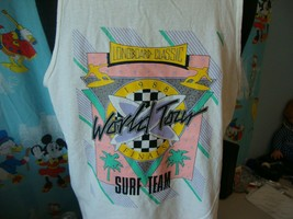Vintage 80's Longboard Classic 1988 Surf Team World Tour t shirt Tank To... - $98.99